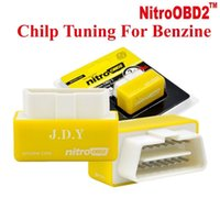 Wholesale Power Performance Chips - Outzone NitroOBD2 Performance Chip Tuning Box Nitro OBD2 OBD Plug and Drive More Power Torque For NitroOBD Gasoline Benzine Petrol Cars
