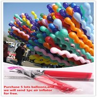 Wholesale Spiral Screw Balloon - Latex Balloons Party Decoration 100pcs Lot Screwed Latex Twisting Spiral Balloons Wedding Party & Holiday Party Supplies Decor