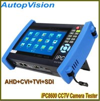 Wholesale Testing Cctv Cabling - 7 Inch Touch Screen CCTV Security IP Camera Tester IPC Tester ONVIF Cable POE test +AHD+CVI+TVI+SDI Camera Tester IPC-8600ADHS