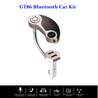 GT86 Bluetooth Car AUX In TF di sostegno Port FM Transmitter A2DP kit vivavoce Lettore MP3 Car Charger 2 USB