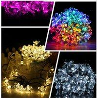 iluminação de tubo de bolha venda por atacado-Luz Solar Lâmpadas Eco-friendly Natal Luz 50 LED RGB Cordas Solar Led Cordas bolha chuva esfera Lâmpada Tubo Luz da festa de casamento Xmas