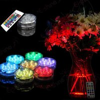 3AAA bateria controlada IR Remote Controlled 10 Multicolors SMD LED vaso Light, luz submersível Led, impermeável Floralyte Light