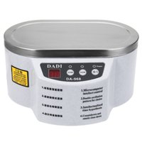 Wholesale Da 968 - New Mini Ultrasonic Cleaner DADI DA-968 Stainless Steel Dual 30W 50W With Display Ultrasonic Cleaning Machine 220V 110V For Cleaning Jewelry