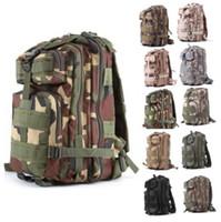 dağcılık sırt çantası toptan satış-30L 3 P Saldırı Taktik Askeri Sırt Çantaları Unisex Açık Seyahat Çantası Dağcılık Yürüyüş Sırt Çantası Kamp Trekking Sırt Çantası CCA7025 50 adet