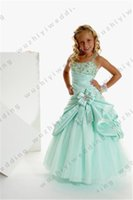 Wholesale Costume Dance Kids Christmas - 2016 Fashion Flower Girl Bridesmaid Wedding Party Dance Dresses Pageant Princess Kids Party Dress Various Colors Girl Costume Clothing