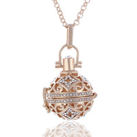 Wholesale diffuser ball resale online - Fashion Jewelry Angel Ball Bola Metal Copper Magic Box Perfume Diffuser Pregnant Women Pendant In Charm Necklace For Women Christmas Gift