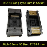 Wholesale Ic Socket Types - TSOP48 Long Type Open Top Burn in Socket Pin Pitch 0.5mm IC Size 12X18.4mm Test Socket Adapter The Transposon Adapter Conversion Block