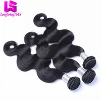 Wholesale Human Hair Extensions Sales - Clearance Sale!!! Brazilian Hair 100% Unprocessed Virgin Human Hair 3 pcs Lot Human Hair Extensions Body Wave Natural Black color 8-30 inch