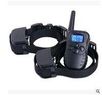 Wholesale Two Dog Control Collars - Remote 300M control Anti-Bark Dog Training Stop Barking Shock Control Collar Ultrasonic Shock Aid Control Free shipping