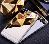 ingrosso schiena di galassia s4-Custodia per specchio elettrolitico TPU Trasparente Cover posteriore per telefono cellulare Samsung Galaxy S4 5 6 edge edge S7 edge plus Note 5 4 A8