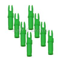 ingrosso alberi delle frecce-100 pezzi Green Archery arrow cocca interna Per albero Diametro interno 6.2mm