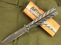 Wholesale Mtech Knives Wholesale - DARREL RALPH Mtech Twist Balisong 440C 57HRC Titanium Tactical Camping Hunting Survial Pocket Knives Hunting Survival EDC Hand Tools Gift