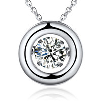 Real Pure 925 Solid Sterling Silver Charm Necklace Necklace Women Fashion Jewelry con High Quality Cubic Zirconia Rhodium Plateado NP38820A