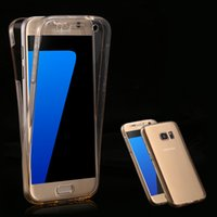 Clear Full per Samsung Galaxy S3 S4 S5 S6 Bordo S7 / S7 Edge Coverage Custodia Trasparente 360 ​​gradi Cover protettiva del telefono Accessori TPU