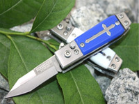 Wholesale Military Hunting - New Cross Defender Xtreme 6722 Tactical Folding Knife Fast Open 55HRC Camping Hunting Survival Pocket Knife Military Utility EDC Tools