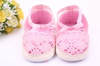 Kleinkind Häkelarbeit Sommer Kaufen -Sommer Neue europäische Stil Mädchen Lovely Prinzessin Hollow Handgehäkelt Baby Soft Bottom Kleinkind Shose Bow Baby Shose