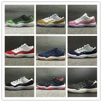 Wholesale bonds discount - With box discount 11 Low Varsity Red 11s Navy gum blue Bred Georgetown Concord white men basketball shoes mens women sports sneakers 36-47