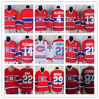 Wholesale Hockey Jersey Gionta - Stitched Montreal #14 Plekanec Blank 21 GIONTA 22 MARA 84 LATENERESSE 29 DRYDEN Red winter classic Ice Hockey Jersey Mix Order