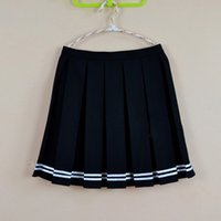 Wholesale Girls School Uniform Skirts - Multi color Japanese high waist pleated skirts JK student Girls solid pleated skirt Cute Cosplay school uniform skirt