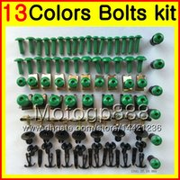 Wholesale 1995 Fairings - Fairing bolts full screw kit For SUZUKI RGV250 VJ22 RGV 250 90 91 92 93 94 95 1990 1991 1992 93 1995 Body Nuts screws nut bolt kit 13Colors