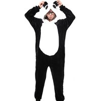 Panda Unisex Fleming Hooded Pigiama Adulti Cosplay Cartoon Cute Onesies Animal Hoodies per le donne