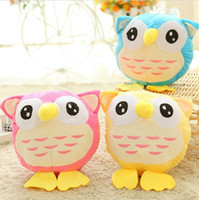 Wholesale Owl Plush Toy Baby - 18cm Lovely Big fat Owl plush toy Doll Cartoon Animal Baby Toy Children Gifts Wedding Gifts Video City Plush Toys