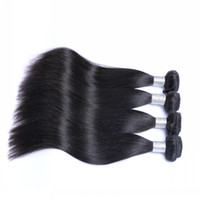 Wholesale Cheap Sale Virgin Hair - Clearance Sales!!!Cheap Indian Hair Bundles 4 Pcs Lot 100% Unprocessed Straight Hair Natural Black Virgin Human Hair Wefts