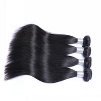 işlenmemiş bakire saç satılık toptan satış-Gümrükleme Satış !!! Ucuz Hint Saç Demetleri 4 Adet Lot 100% Işlenmemiş Düz Saç Doğal Siyah Virgin İnsan Saç Atkı