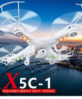 Wholesale Hd Camera Ufo Aircraft - 2017 fashion new X5C-1 four-axis aircraft HD aerial camera UAV helicopter remote control aircraft ufo dro