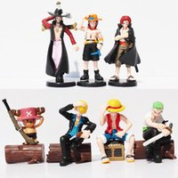 Wholesale Anime One Piece Ace - Anime Action Figures One Piece Luffy Zoro Mihawk Ace Sanji Shanks Chopper PVC Action Figure Brinquedos Collection Toys