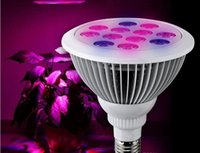 Wholesale Led Bulbs Plant Growth - dhl fast ship led E27 12W LED Plant Grow high power par Light Bulb Indoor Plants Growth grow lights price with CE ROHS certified