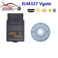 Wholesale Elm327 Best Price - Factory price Vgate ELM 327 V2.1 Bluetooth Vgate Scan OBD2   OBDII ELM327 V2.1 Code Scanner Best Quality Free Shipping