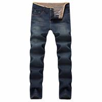 pantalon décontracté chez les adolescentes achat en gros de-Haute qualité Retro Teenage Hommes Jeans Slim Straight Pants Printemps et Été Casual Lâche Pants lumière du soleil Marque biker jeans