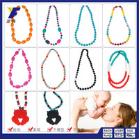 Wholesale Long Tooth Necklace - Europe and the United States popular paragraph of the Silicone Long Necklace Fashion Women's clothing jewelry baby teeth Plastic Necklace