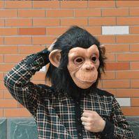 ingrosso costume scimmia-Lattice Animal Chimp head Mask Monkey Fancy Dress Pigro Bruno Mars Song Chimpanzee Cosplay Maschera Costume Teatro Prop Halloween