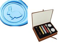 Wholesale Wax Seal Stamp Custom - Free Shipping Custom Logo Vintage Rabbit Wax Seal Stamp Kit Wedding Invitations