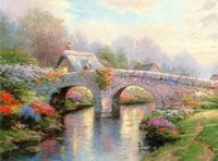 Wholesale abstract landscape paintings single canvas resale online - Thomas Kinkade Landscape Oil Painting Reproduction High Quality Giclee Print on Canvas Modern Home Wall Art Decor TK157
