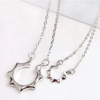Wholesale Ruby Star - Really Spell Clavicle The Sun Necklace Star Style Solitaire Stainless Steel Silver Fashion Jewelry Locket Elements Statement