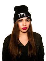 Wholesale Wool Colorful Hat Fashion - Colorful Trill Beanie Hip Pop Hat Adaptability Adjustable Clean Up Beanies By Trill Soft Knitting Autumn and Winter Men Women Hat