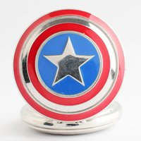 Wholesale wholesale super luxury watches - Super hero Avengers Captain America Shield Pocket Watch Bronze locket pendants necklace Fob quartz Watches fashion jewelry Drop Shipping