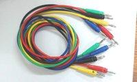encadernação venda por atacado-5 pcs de Silicone macio Tensão 4 MM Banana plug Cable para Ligação Post conector