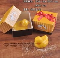 cajas amarillas del favor de la boda al por mayor-Favores de boda Suministros de boda Caja de regalo de jabón de pato amarillo Práctico 20 piezas para vender favores únicos de boda Favores de jabones de baño