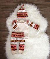 Wholesale Boy Set Winter - 2016 Newborn Baby Girls suits hot sale Autumn winter kids boy girl Clothes long sleeve T-shirt+Pants Leggings+hat 2PCS cotton Outfits Set
