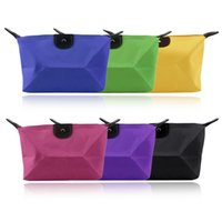 Wholesale-Nylon Travel Cosmetic Bag Housse de maquillage portable Multifonction Toiletry Zipper Wash Organizer Pratique Cheap And Hot Selling