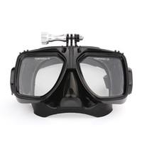 dalış maskesi video kamera toptan satış-Freeshipping Taşınabilir multi-fonksiyonel Dalış Su Geçirmez Dim Video Işık Dalış cam maske sallama bobber monopod Eylem Kamera için
