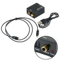 conversor de hdmi analógico venda por atacado-Transformador de áudio óptico coaxial de 3,5 mm coaxial digital para adaptador analógico RCA L / R