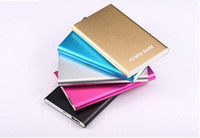 Wholesale Phone Batters - DHL Ultra thin slim powerbank 8800mah power bank for mobile phone Tablet PC External batter