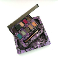 Wholesale Butterfly Makeup - Iron Butterfly Brands Eyeshadow Palette Makeup 10 Colors Eye Shadow Palettes Makeup Eyes Cosmetics Kits with Brush US DHL Free Shipping