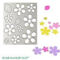 Wholesale Album Sets - Flower Leaf Set DIY Metal Cutting Dies Stencil Scrapbook Card Album Paper Embossing Crafts