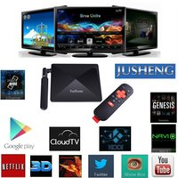 Wholesale Android Tv Xbmc Quad Core - JUSHENG® W9 T95 Android TV Box with kodi Fully Loaded XBMC Amlogic S812 Quad Core CPU Penta-core ARM Mali 450 GPU 2GB 16GB Dual Band Wifi 2.